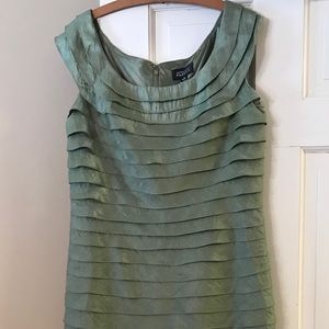 Adrianna Papell Dresses - Adrianna Papell Sheath Layered Dress in Sage